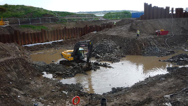 The excavation pit, Energy from Waste Plant construction