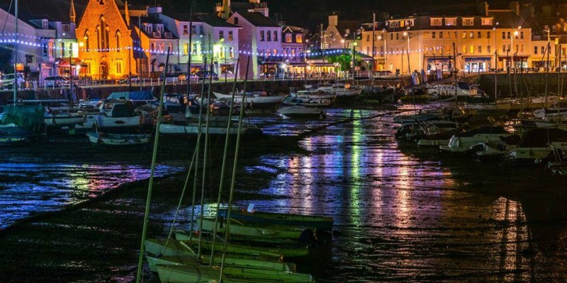 No 14 ~ St Aubin's Harbour at Night ~ Paul Franklin