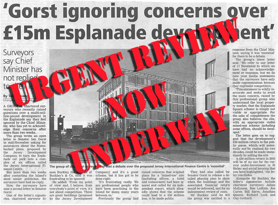 Esplanade development news – urgent review ordered!