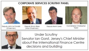 sos jersey esplanade scrutiny panel and chief minister