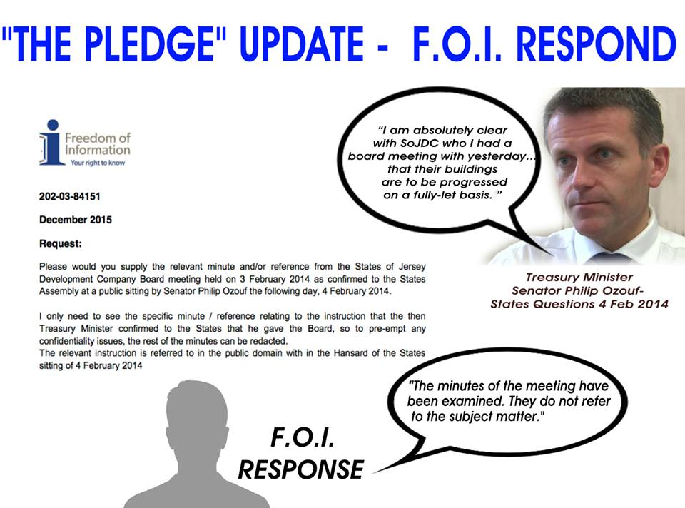 SOSJ receive answer to FOI request on Ozouf's 'pledge'