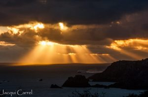 Crepuscular Sunset over St Brelade's Bay ~ Jacqui Carrel ~ SOS Jersey