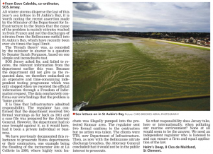 Letter about Jersey's sea lettuce problem to JEP ~ 01 Dec 2016