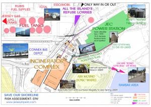 Picture: Risk assessment map of La Collette development - click for high res version