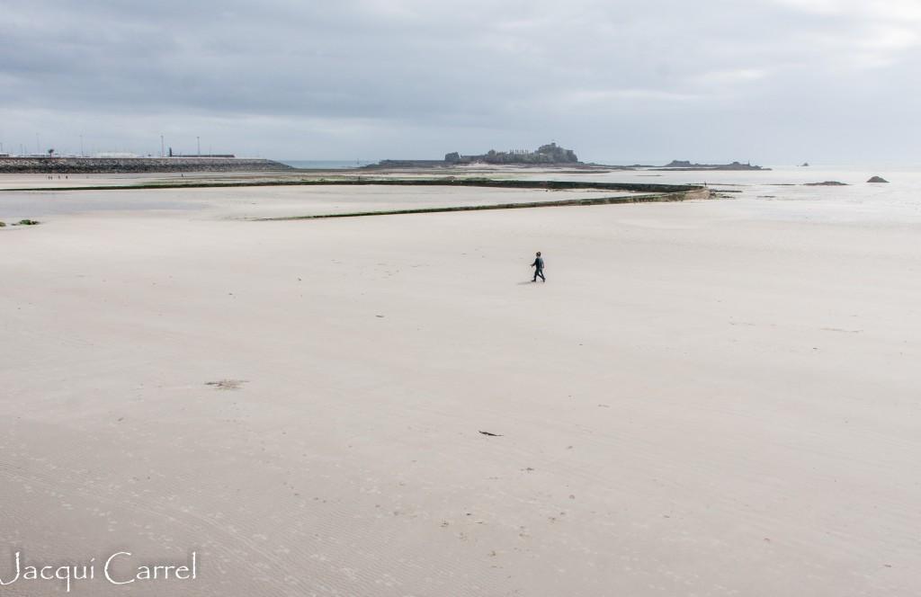 St Aubin's Bay & Elizabeth ~ Jacqui Carrel Castle