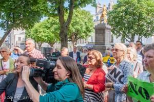 esplanade protest - jacqui carrel - jersey - 16 june 2015-93